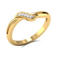 Kiara Diamond Studded Gold Ring