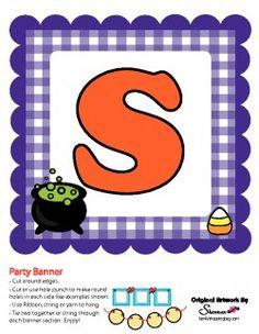 "Printable Halloween Banner - Word ""Spooky"""