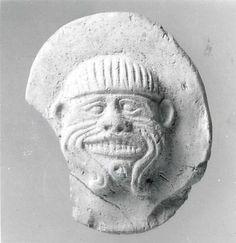 Targa con il volto del demone Humbaba, antico babilonese, ca. 2000-1600 aC, la Mesopotamia Se siete interessati, potete trovare maggiori informazioni su Humbaba nella Epopea di Gilgamesh.