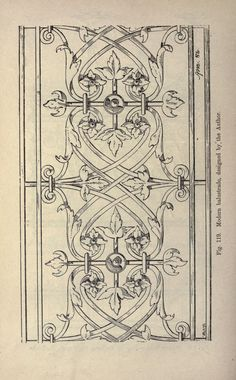 A handbook of art smithing : for the use of practical smiths, designers of ironwork, technical and art schools, architects, etc. Illustration Art Nouveau, Graphic Illustration, Old Paper, Floral Illustrations, Illuminated Manuscript, Architectural Elements, Gravure, Design Elements, Embroidery Patterns
