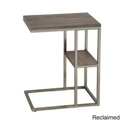 Moda Accent Table - Dimensions: 23 inches high x 14 inches wide x 19 inches deep  Maybe for bedroom. Allows opening of drawers. Put lamp on top and a cute little box on lower shelf. Issue: Reach the box?