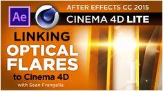 Cinema 4D Optical Flares Tutorial - Connect Optical Flares to C4D Animat...