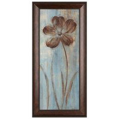 May's Arrival II Framed Art Print (160 BRL) ❤ liked on Polyvore featuring home, home decor, wall art, bronze wall art, flower stems, home wall decor, framed flower wall art and framed wall art