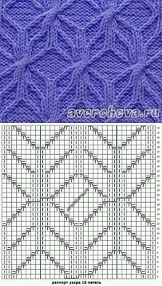 Cable Knitting Patterns, Knitting Stiches, Knitting Charts, Loom Knitting, Knit Patterns, Crochet Stitches, Hand Knitting, Stitch Patterns, Knitting Tutorials