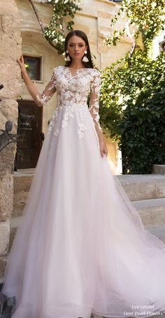 Eva Lendel wedding dresses 2018 valentine2 #wedding #weddingdress #weddingideas #deerpearlflowers #dpf ❤️ http://www.deerpearlflowers.com/long-sleeves-wedding-dresses/