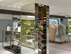 Harrods ladies shoe salon by Shed, London store design