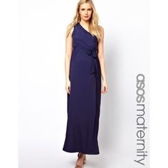 ASOS Maternity Exclusive Maxi Dress With One Shoulder found on Polyvore