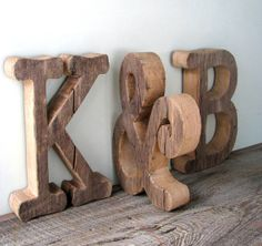 Unfinished Wooden Wedding Letters, Rustic Centerpiece Table Decor, Personalized Wood Wedding Sign, Photo Prop
