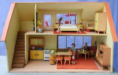 diePuppenstubensammlerin: Puppenhaus mit Teich - 1959 Bodo Hennig - dolls house with a pond
