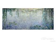 Waterlilies: Morning with Weeping Willows, Detail of the Central Section, 1915-26 Giclee Print by Claude Monet at AllPosters.com