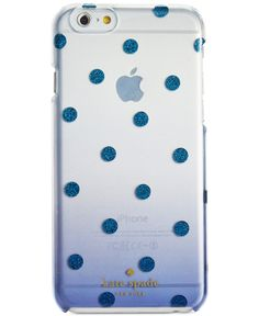 kate spade new york Glitter Dot Clear Ombre Resin iPhone 6 Case - kate spade new york - Handbags & Accessories - Macy's