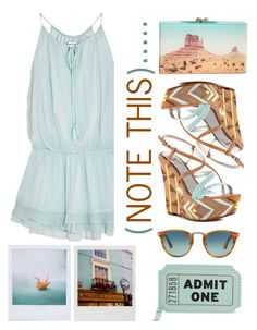 """note this"" by emcf3548 ❤ liked on Polyvore featuring Elizabeth and James, Charlotte Olympia, Sam Edelman, Kate Spade, Polaroid and Persol"