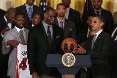 """Momma, I made it!"" - LeBron James at the White House. #success #lebron #president #basketball"