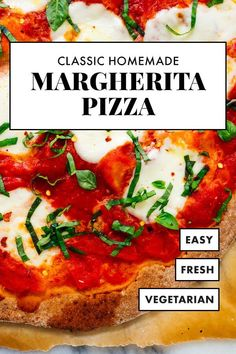 Make classic margherita pizza at home with this simple recipe! This Italian pizza is fresh, delicious and easy to make. #margheritapizza #italian #pizza #summer #cookieandkate Wheat Pizza Dough, Whole Wheat Pizza, Pizza Recipes, Dinner Recipes, Healthy Recipes, Healthy Food, Weeknight Meals, Easy Meals, Italian Diet