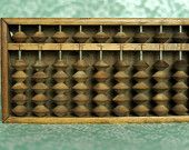 Pre-1930 Antique Japanese Wooden Abacus or Soroban. Made in Japan.