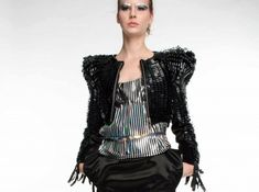 Couture Eco-Fashion Made From Recycled Video Tape