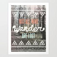 Wander Art Print by Wesley Bird