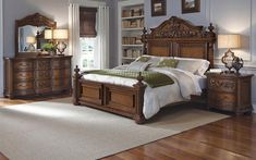 Cheswick California King Bedroom Group by Pulaski Furniture at Godby Home Furnishings Pulaski Furniture, Bedroom Furniture, Furniture Design, House Furniture, King Size Bedroom Sets, Queen Bedroom, Queen Headboard, Bedroom Set Designs, Bedroom Ideas