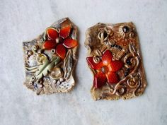 Flower Leftover Magnets by Art Studio Katherine, via Flickr