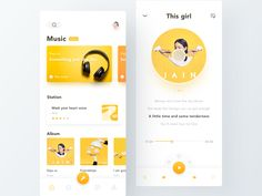 Music App designed by abbily_yang for DCU. Connect with them on Dribbble; Ui Design Mobile, Web Ui Design, Flat Design, Wireframe Design, Design Layouts, Dashboard Design, Design Design, Graphic Design, Software