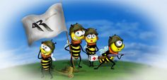 See these courageous guys? They are the Bee Armed Forces of Hiveland, the coolest army in the world!