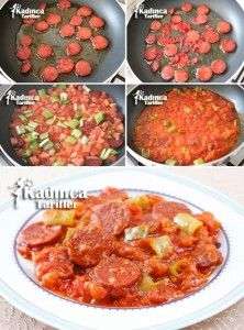 Sausage with Breakfast Sauce Recipe - Sandwich Recipes Yummy Recipes, Most Delicious Recipe, Sausage Recipes, Fruit Recipes, Lunch Recipes, Yummy Food, Breakfast Sauce Recipe, Best Breakfast Recipes, Sausage Sauce