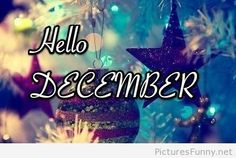 Hello December Christmas decorations image