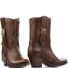 Sendra booties bruin Laly deep cuoio 11970