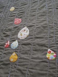 Sew Katie Did - Raindrop applique quilt