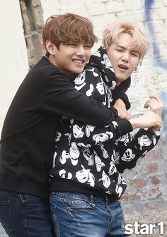 V + Suga - star1 Magazine (October Issue) [150923] | btsdiary