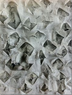 Distressed Textiles Design - stitched layers of fabric, with irregular cuts to reveal the layers & textures beneath - wadded quilting; fabric manipulation techniques // Daniela Maschera