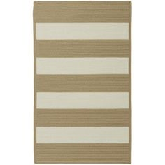 Capel Willoughby Cream Striped Outdoor Area Rug Rug Size: Cross Sewn 8' x 11'