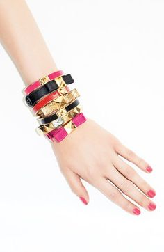 kate spade new york 'locked in' leather bow bracelet | Nordstrom
