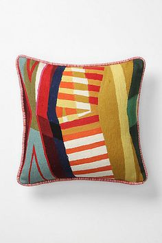 Nice graphic pillows combined with soft fiberous textures… yes please. (Colorfield collage pillows at Anthropologie: here, here, and here) Modern Pillows, Decorative Throw Pillows, Colour Field, Textiles, The Design Files, Fabric Art, Soft Furnishings, Textures Patterns, Home And Living