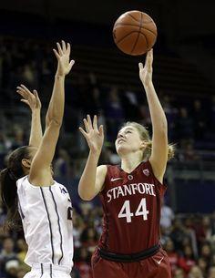 Stanford's Karlie Samuelson (44) shoots over Washington