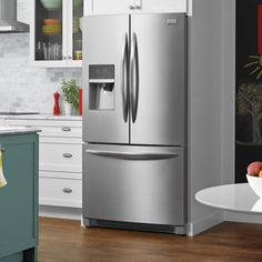 French Door Refrigerator With SpillSafe Glass Shelves And Glide Drawers Kitchen Gadgets, Kitchen Appliances, Frigidaire, Gas And Electric, Wall Oven, French Door Refrigerator, Glass Shelves, Industrial Style, Home Improvement