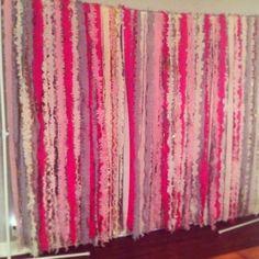 Streamer Curtain Backdrop : wedding backdrop ceremony pink streamers Backdrop