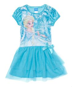 This Frozen Elsa Snowflake Layered Dress - Toddler & Girls is perfect! #zulilyfinds