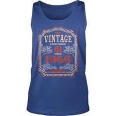 61th Funny Anniversary Gifts Ideas Aged Vintage True Classic Since 1956 Tried And True