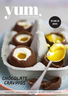 """yum. Gluten Free Magazine March 2015  The March """"Chocolate"""" edition of yum. Gluten Free is jam packed with feature stories including Model Chocolate and DIY Easter Eggs from Lorna Jane. With over 45 recipes this edition is sure to satisfy."""