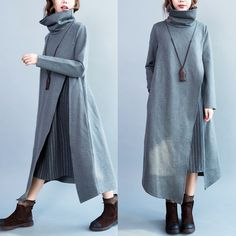 Woolen dress - Tkdress - 1