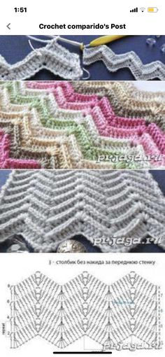 Zig Zag, Blanket, Crochet, Collection, Beautiful, Fashion, Moda, Fashion Styles, Ganchillo