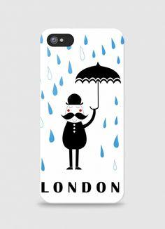 Iphone case Raining london by Arthur on Triaaangles