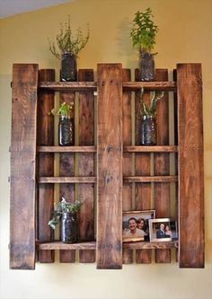 Recycled Hand Made Pallet Shelves — Crafthubs                                                                                                                                                                                 More