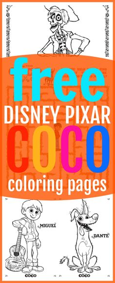 11 FREE Disney Pixar Coco Coloring Sheets   Kids Activities - Raising Whasians via @raisingwhasians