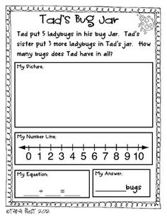 FREE Addition Story Problems: Common Core Aligned! Math Classroom, Kindergarten Math, Teaching Math, Kindergarten Addition, Classroom Decor, Maths, Teaching Resources, Addition Words, Math Addition