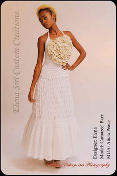 ELENA SIRI CUSTOM CREATIONS  CROCHETED WEDDING GOWN  www.elenasiri.com  crochet fashions