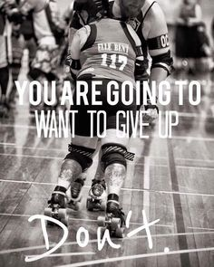 Monday Motivation! Original photo by Richard Tompsett   #rollerderby #skate #skater #skatelife #fitness #fitspo #fitlife #fitfam #inspiration #motivation #positive #goodvibes #nevergiveup #toowoomba #sport by toowoombacityrollers