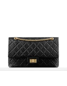 Large 2.55 flap bag in quilted aged... - CHANEL
