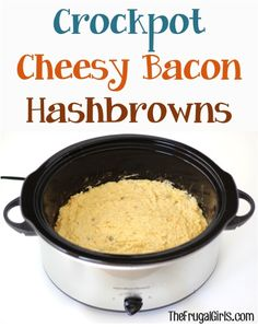 Crockpot Cheesy Bacon Hashbrowns Recipe! ~ from TheFrugalGirls.com ~ the PERFECT comfort food for your next Breakfast or Brunch, Dinner side, or Holiday meal! #hashbrown #slowcooker #recipes #thefrugalgirls